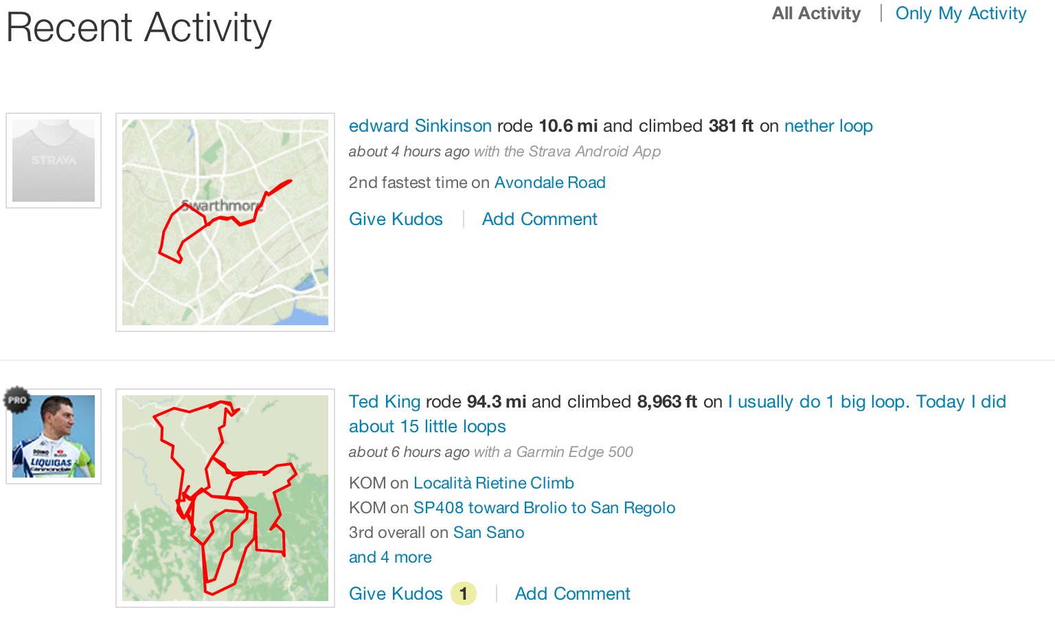 Strava with OSM maps